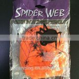 Halloween accessories/Halloween orange spider web party accessory/ crazy party decoration nylon web