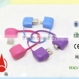 Trade assurance 10cm Pocket Bag Shape micro usb short cable                                                                         Quality Choice