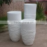 2015 hot Antique flower pot manufacturer of fiberglass planter Garden decorative flower pot