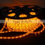 ETL 12V waterproof 30~ 72led per meter 100% copper 3 wire holiday decoration round color changing led neon flex rope light ul