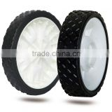 6/7 inch plastic wheel for garden cart, air compressor, trolley, garbage bin
