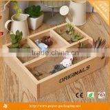 Alibaba Wholesale Custom Japanese Gifts Wooden Tray with 4 Dividers
