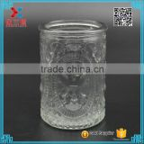 480ml recycled embossed religious candle glass jar wholesale                                                                         Quality Choice