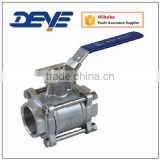 Ball Valve with Three-Piece Body Threaded NPT BSP 1000PSI 2000PSI with Direct Pad with ISO5211