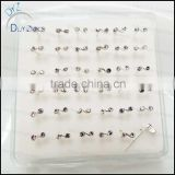 sterling silver nose stud pins piercing jewelry