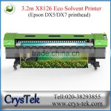 CRYSTEK Supplier 3.2m large format vinyl sticker plotter eco solvent printer for advertising