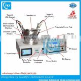 Laboratory Mini Dual-head Magnetron Plasma Vacuum Sputtering Machine with two sputtering gun