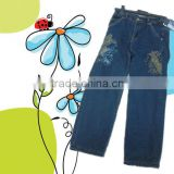 soft washing Teenager kids denim jeans pants with fleece lining for teen boys