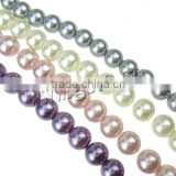 8mm glass pearl beads for jewelry making imitation pearls strands wholesale