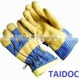 Cow grain leather winter work gloves full thinsulate lining/best quality by taidoc