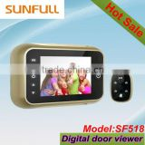 3.5 inch TFT LCD Screen Digital Door Bell With Viewer with Doorbell +View Angle120 degree+ Support Time +Date + Photo Taking