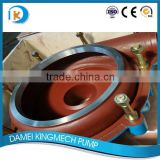 China Horizontal centrifugal slurry pump spare part with high chrome metal material used for copper minin/gold mining plant