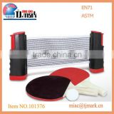 PORTABLE PINGPONG GAME SET WITH BALLS AND NET TABLE TENNIS