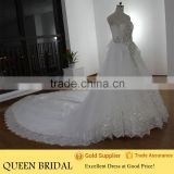 Real Sample Heavy Beaded Rhinestone Luxury Wedding Dress Muslim Wedding Gown