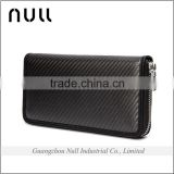 Famous brand name low MOQ big capacity men style carbon fibre wholesale cell phone wallet                                                                         Quality Choice
