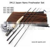 high quality im12 nano carbon fly rod fly fishing rod