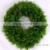 China supplier decorative wall hanging artificial boxwood wreath for indoor outdoor decoration