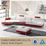 Guangzhou furniture market good sale mixed color corner sofa