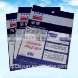 Euro Hole OPP package with hanging header/OPP plastic pouch bag /OPP plastic self adhesive poly bag