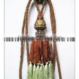 magnetic ribbon curtain tiebacks with tassels, curtain accessories wholesalers for curtain fabrics
