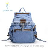 Trend jean backpack wholesale cowboy bags factory canvas shoulder bags