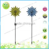 Big Sunflower garden outdoor solar stainless steel stake light