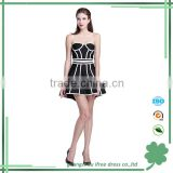 recently fashionable sexy strapless one-piece knee-length women dresses evening dresses party dresses