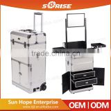 Professional Aluminum Cosmetic Case Trolley Makeup Case Drawers Trays With Mirror                                                                         Quality Choice                                                     Most Popular