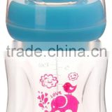 Streamline design easy grip can be with handle baby bottle 6oz 180ml