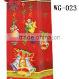 2015 best selling products for Christmas gift bottle bag in paper material with ribbon handle supplier and manufacture