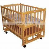 New Zealand pine wood baby bed luxury baby cot baby crib from Linyi