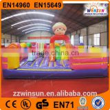 CE kids inflatable bouncy castle for kids with air blower