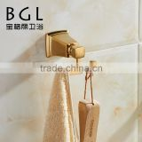 2015 BAOGEL I 12135 wall mounted for bathroom accessories gold fishing solid robe hook
