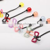 Kids Cute candy round ball Hair Ties With cellulose acetate/resin Acrylic butterfly bow knot Beads Decorative for girls