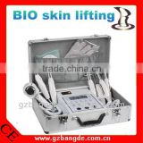 Boxy BIO microcurrent face lift home beauty equipment with Wrinkle-dispelling Sticks and Hot Cold Hammer BD-P026