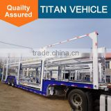 TITAN Tri-axle vehicle Car Transport Semi Truck Trailer , Car Carrier Trailer For Sale In Philippines
