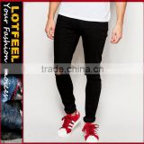 man black skinny jeans pant with Rip Knee company 8 jeans jeans stock lot brands mens jeans(LOTA068)