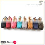 China factory latest design flat mocassin private label women shoes