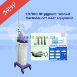 Wrinkle Removal ER700C Laser Medical Co2 Tattoo /lip Line Removal Fractional/RF Tube Laser Machine For Verginal Tightening