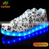 new unise luminous shoes men & womenNewest design unisex USB charging wing pattern luminous LED shoes for adult