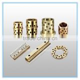 brass graphite oilless cylindrical bushes bearing