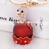 Sparkling Keychain Blingbling Crystal Rhinestone Handbag Charm for Cat Animal Lovers Diamond Kitty Key Ring/Chain