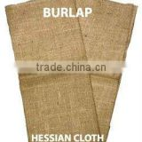 100% Jute Natural Plain Knitted Hessian Cloth / Burlap