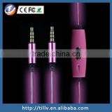Newest Hot Sale EL Flash Light stereo earphone audio cable