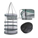 Greenhouse fast dryer vertically hanging nylon mesh drying rack for flower fruit plant and herbs drying