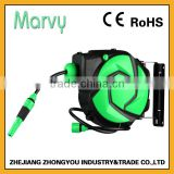 Garden hose reel type retractable hose reel with 10+1m PVC water hose reel