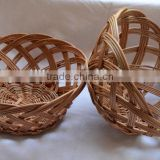 Handwoven wicker baskets for bread/fruit display and serving, eggs, decoration of your table
