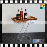 Custom acrylic folding snack table household acrylic clear folding tray table foldable coffee table from china manufacturer