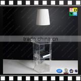 Modern design acrylic bed side lamp table PMMA narrow side table from china manufacturer