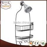 Metal wire matte black shower caddy